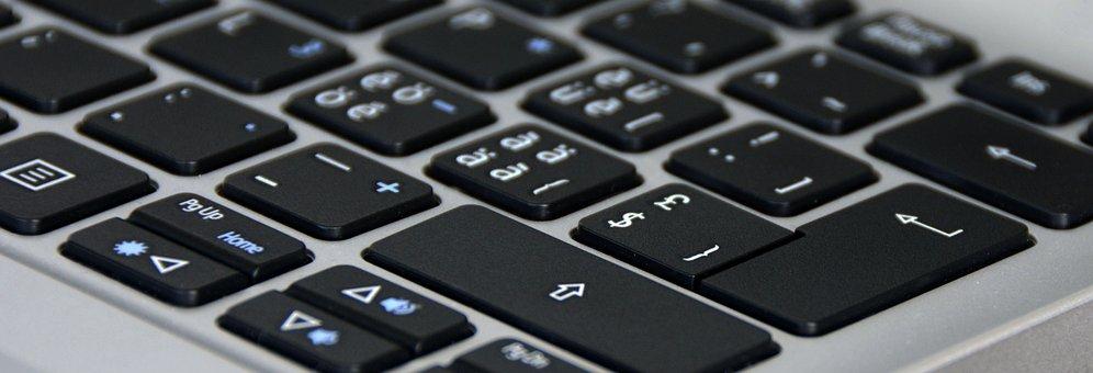 Keyboard, Silver, Black, Notebook, Input, Letters