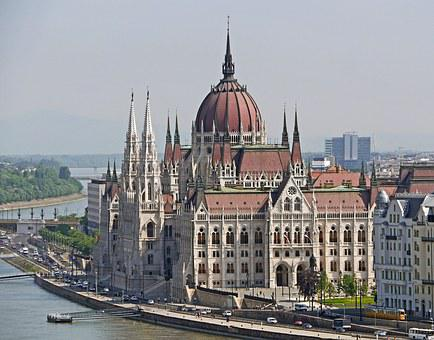 Budapest, Parliament, South Side, Danube