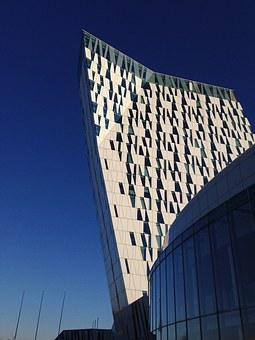 Building, Modern, Copenhagen, Denmark, Bella Sky Hotel