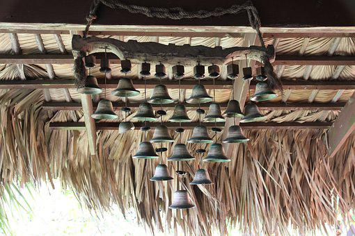 Bells, Roof, Dry, Cane, Ringing