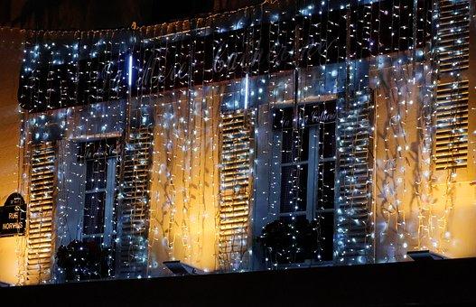 Decoration, Light, Montmartre, Christmas, Garland