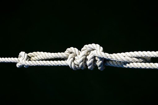Knot, Rope, Connection, Dew, Fixing, Old, Strand, Leash
