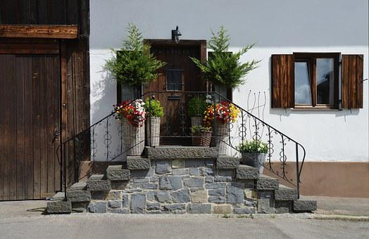 Farmhouse, Rustic, Input, Flowers, Baskets