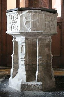 Baptism, Font, St Michael's Church, Sittingbourne