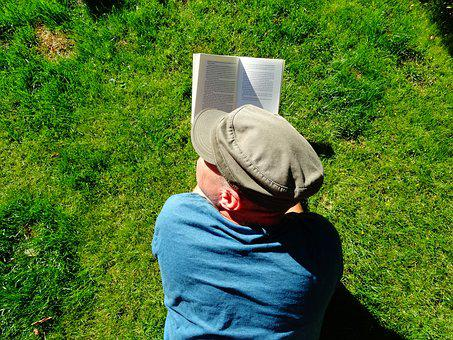 Read, Garden, Relax, Hat, Books, Grass, Book, Are