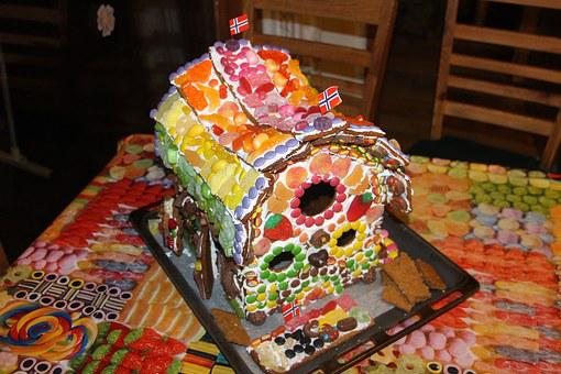 Gingerbread House, Candy, Delicious