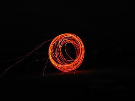 Fire, Brand, Sky, Flame, Glow, Wood Fire, Circle