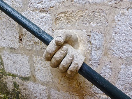 Hand, Handrail, Stone, Stairs, Sandstone, Support, Hold