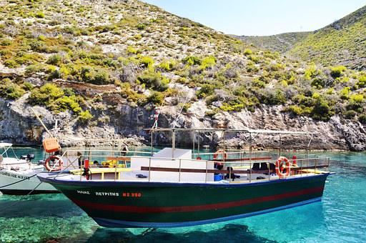 Boat, Port, Ionian, Turcoise, Water, Sea, Seascape