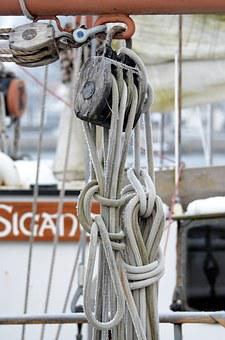 Dew, Knot, Rope, Fixing, Ship Traffic Jams, Cordage