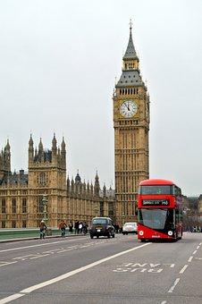 London Bus, England, Britain, Landmark, Big, Ben, Tower