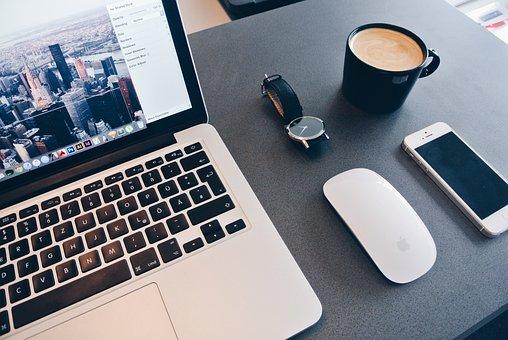 Office, Mac, Laptop, Home Office, Computer, Notebook