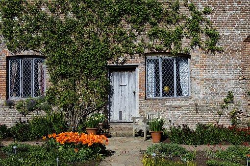 Tudor Cottage, Old Brickwork, Leaded-light Windows