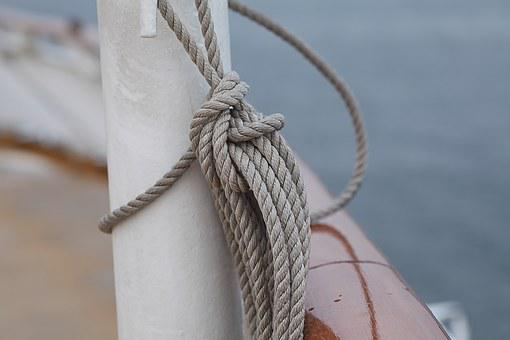 Ship, Harness Lines, Rope, Detail, Boot, Maritime