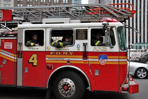 Fire Truck, American, Fdny, New York, Usa, Nyc