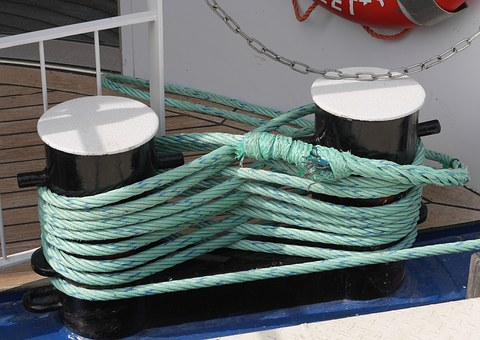Rope, Ship Attachment, Bollard, Dew, Nylon Rope