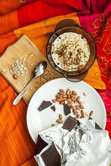Dessert, Food, Oatmeal, Bright, Peanuts, Chocolate