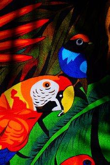 Papgei, Red, Bird, Animal World, Towel, Bath Towel