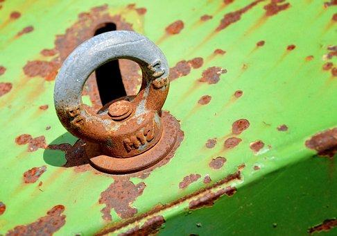 Rusty, Eyelet, Fixing, Round, Screw, Detail, Technology