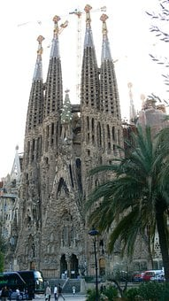 Barcelona, Park Guell, Sagrada Familia
