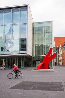 Artwork, Sculpture, Keith Haring, Dog, Red Dog, Ulm