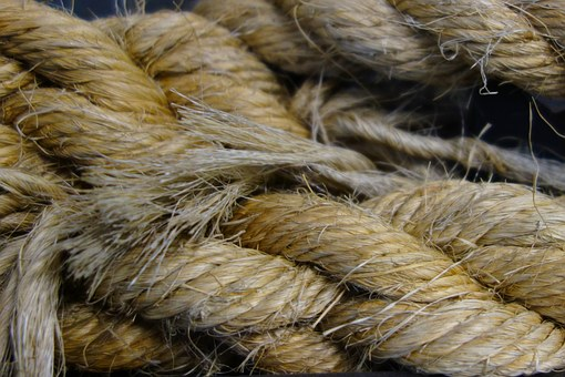 Rope, Hemp Rope, Fixing, Knot, Dew, Ship Accessories