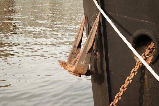 Anchor, Dew, Chain, Ship, Maas, Boot, Fix, Knitting