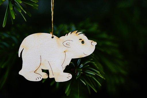 Polar Bear, Small Polar Bear, Lars, Christmas Ornaments