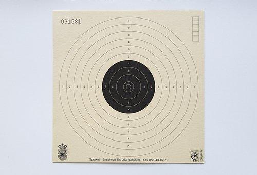 Target, Paper, Shoot, Circles, Goal, Round, Blank