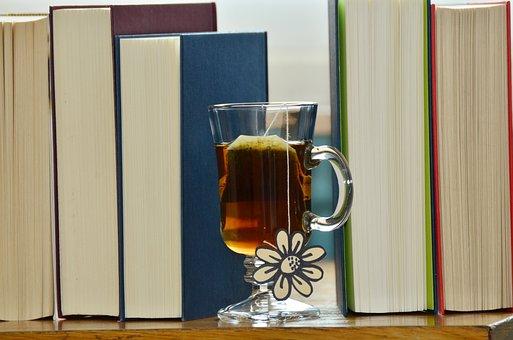 Tee, Tea Glass, Drink, Hot Drink, Books, Read, Relax