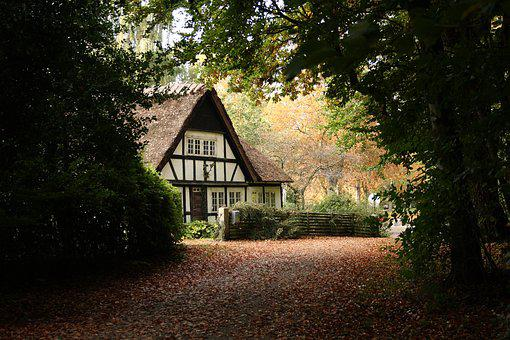 House, Timber Frame, Thatched Roofs, Autumn, Kerteminde