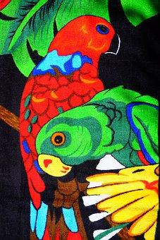 Loris, Birds, Parrots, Towel, Bath Towel, Colorful