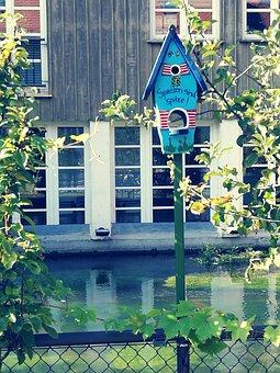 Sweet, Blue, River, Ulm, Fishermen's Quarter, Aviary