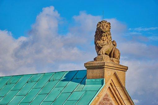 Roof, Statue, Lion, Wartburg Castle