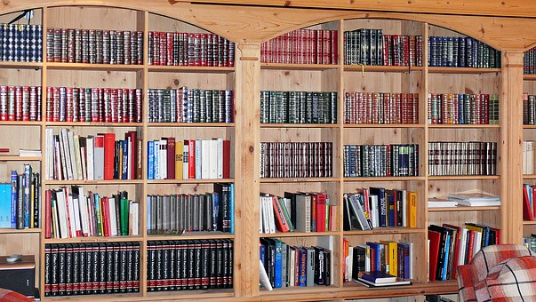Work Rooms, Library, Books, Bookcase, Spine, Book Wall