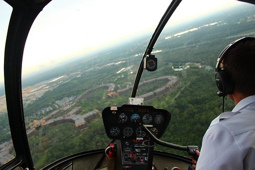 Helicopter, Flying, Flight, Birds Eye, Pilot, Aircraft