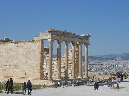 Greek Temple, Acropolis, Greece, Antique, Tradition