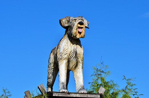 Wood Dog, Figure, Dog, Schnauzer, Sculpture, Art