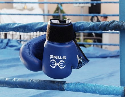 Boxing, Boxing Gloves, Match, Blue, Ring, Passion
