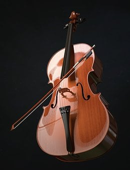 Cello, Strings, Stringed Instrument, Arch, Wood