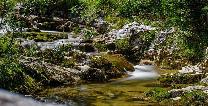 River, Longexposure, Water, Switzerland, Flow, Nature