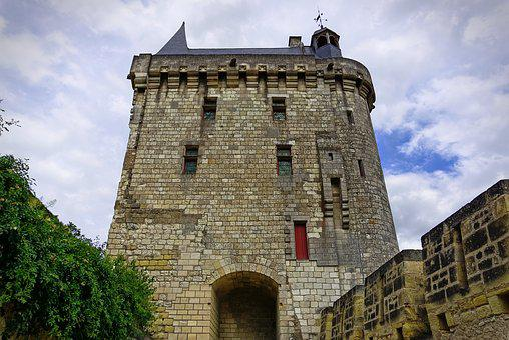 Chinon, Chateau De Chinon, Middle Age, Sky, France