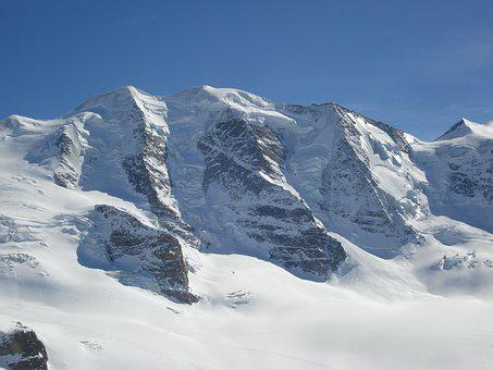 Mountains, Alpine, Piz Palu, St Moritz, Engadin