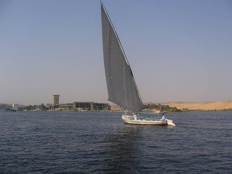River, Nile, Sailing, Egyptian, Water, Nile River