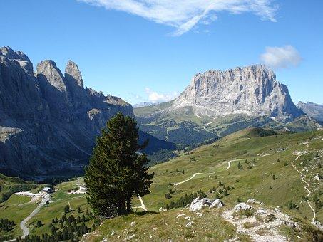 Gardena, Sella, Pass Road, Langkofelguppe, Val Gardena