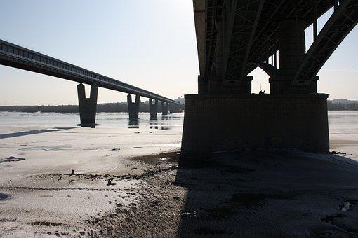 Bridge, River, Quay, Steel, Railway Bridge