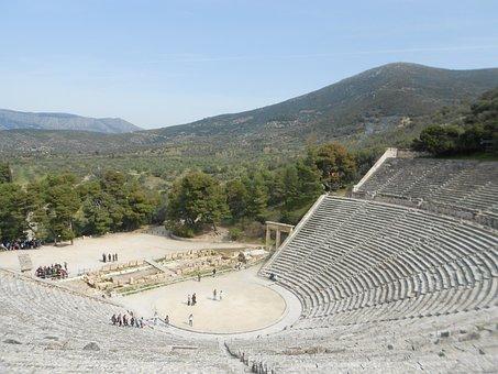 Theatre Of Epidaurus, Greece, Sanctuary Of Asklepios