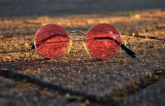 Glasses, Spectacles, Vision, Eye, Pink Glasses