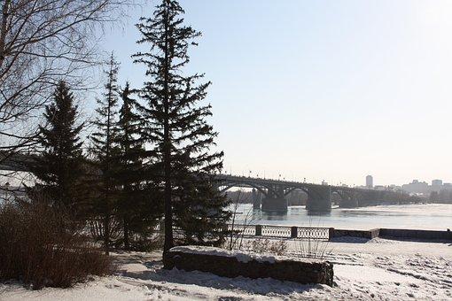 Quay, River, Spring, City, Water, Bridge