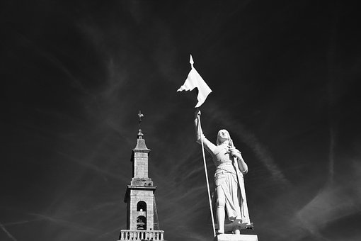 Statue Of Joan Of Arc, Photo Black White Warrior